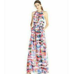 Jessica Simpson Floral and Stripe Maxi Dress